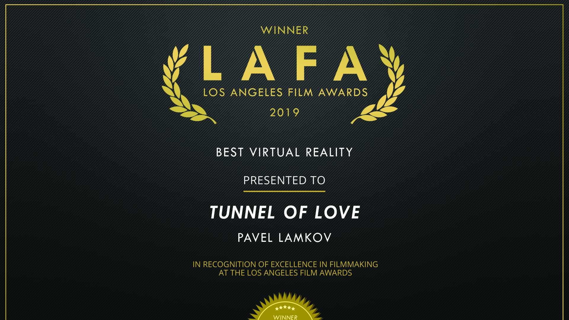 Pavel Lamkov, Los Angeles Film Award